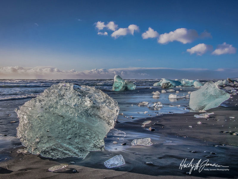 Amazing Ice formations in Iceland