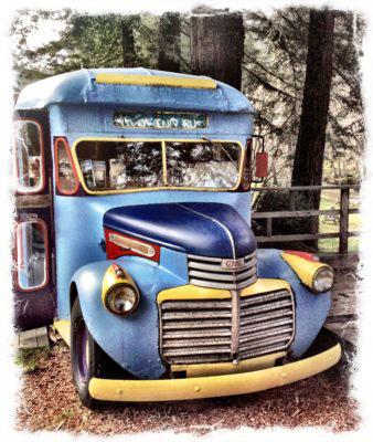 Hippie Bus in Big Sur