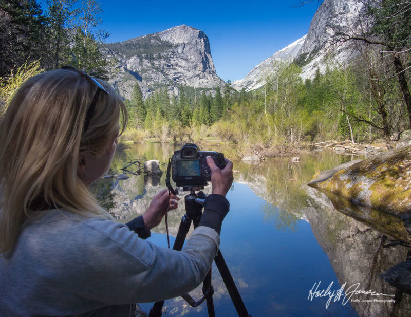 Enjoying and special photography moment in Yosemite