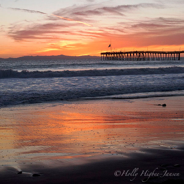 Ventura Pier at Sunset photographed by Holly Jansen