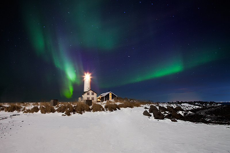 Group photography workshops in Iceland featuring the Aurora Borealis.