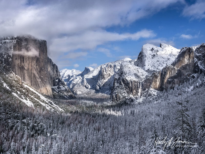 Tunnel View in Yosemite Valley