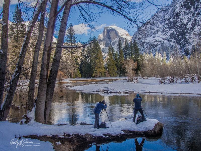 Mark Jansen teaching a client in Yosemite Valley